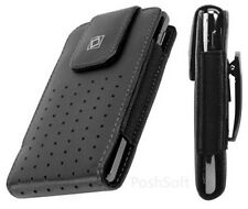 Leather Vertical Case for LG G5 phone. Cover Pouch+Holster Belt-Clip, New,Black