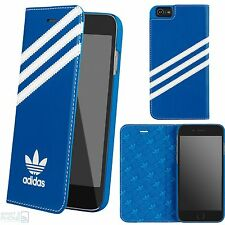 "adidas Basics Book Case Cover Apple iPhone 7 4,7"" Schutz Hülle Tasche bluebird"