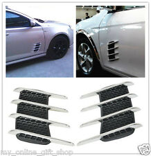 2 Universal Car Hood Side Flow Vent Fender Air Net Door Decals Auto Sticker DIY