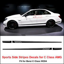 507 Side Stripes Decals Sticker for Mercedes Benz W204 C Class AMG Matt Black