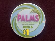 "$1 CASINO CHIP -- PALMS CASINO RESORT 2006 -- LAS VEGAS, NV -- ""COLLECTABLE """