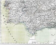 Verdadera 167 año vieja mapa españa u. Portugal mapa de españa en lienzo 1849