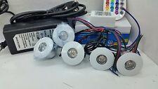 kit 5 FARETTI 3W RGB IP20 AD INCASSO  completo di centralina RGB + alimentatore