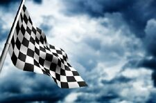 Black and White Checkered 4x6 Foot Flag Banner (150D Super Polyester)
