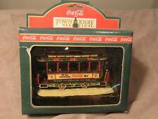 COCA COLA 1992 TOWN SQUARE COLLECTION - #64310 OLD NUMBER SEVEN TROLLEY - BNIB