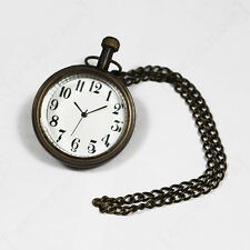 WW2 GERMAN POCKET WATCH - Repro Military Battery Operated With Chain