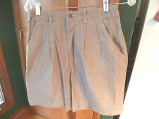 Women's LEE CASUALS Houndstooth Check Cotton Shorts Size 8 Med. CLASSY!