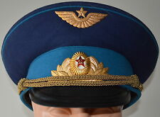 Soviet USSR Russian Visor Hat Officer Aviation Air Force Airborne SIZE 56