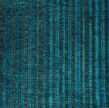 DESIGNERS GUILD Cascina Stripe Turquoise Chenille New Remnant