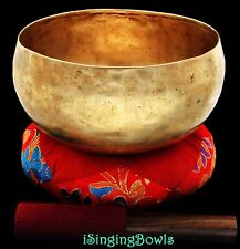 "Antique Tibetan Singing Bowl: Lotus 7 7/8"", circa 18th Century, A2 & D#4. VIDEO"