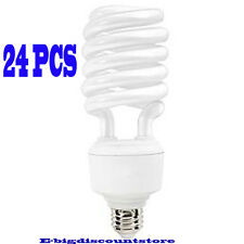 Lot 24PC 40W T4 Spiral Compact Fluorescent Bulb Screw In Base High Lumen/Wattage
