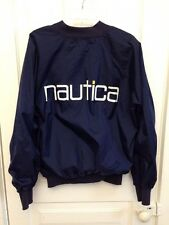 Vintage 90's Nautica Windbreaker/Bomber Jacket Full Zip Navy Blue Men's OSFA