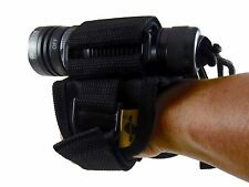 Scuba Dive Torch Light Hand Free Holder Soft Handmount Miltary style