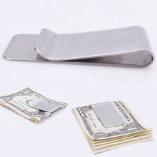 Slim Silver Money Clip Credit Card Holder Wallet New Stainless Steel New