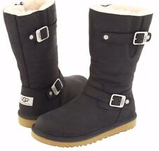 UGG AUSTRALIA KENSINGTON BLACK YOUTH/ KIDS US 6 FITS WOMENS US 7.5 OR 8 NEW