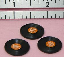 Dollhouse Miniature Record Album Set 3 Brown Label Minis 1:12 Scale
