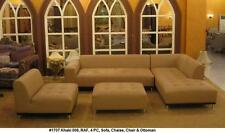 Modern design khaki light brown Leather Sectional Sofa 4 pieces set #1707