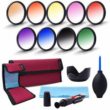 58mm Graduated Color Filter Kit For Canon T4i T5 T5i XSI XS XTI 18-55mm LF498