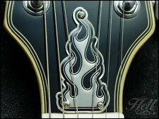 """BURN"" 100% Brass Diecast Truss Rod Cover. Fits most Epiphone Les Paul, SG More."