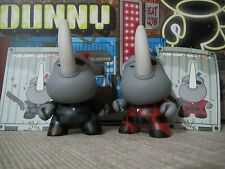 "◆Kidrobot 2013 POST APOCALYPSE DUNNY 3"" Xam Dam Hicks RED+BLACK Kaneda HUCK GEE◆"