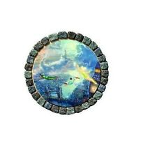Thomas Kinkade Tinkerbell and Peter Pan Fly to Neverland Garden Stepping Stone