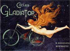 Vintage Gladiador ciclos A4 cartel Impresión De Publicidad