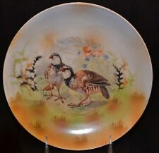 "Three Crown China Germany Game Bird Plate Signed ""Hucsis""? 8 1/2"""