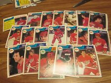 83/84 OPC HOCKEY DETROIT REDWINGS TEAM SET 19 DIFF CARDS PACK FRESH