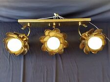 Feldman Lotus Sconce Vanity Wall Lamp Light Brutalist MCM Hollywood Regency Vtg