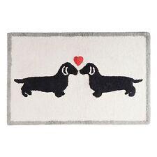 Natural Dachshund Print Dog Lovers Bathroom Rug Bath Mat Cotton Tufted Doxie