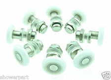 8 x Replacement SHOWER DOOR ROLLERS/Runners/Wheels/Pulleys Wheel Dia 27mm L004