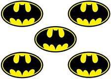5 X BATMAN LOGO MINNIE/SMALL IRON ON T SHIRT TRANSFERS LIGHT/WHITE FABRICS
