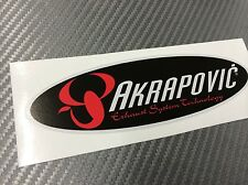 1 Adesivo Stickers AKRAPOVIC White Old resistente al calore 14 cm