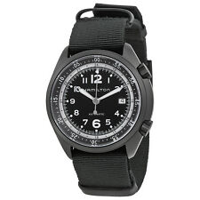 Hamilton Khaki Aviation Pilot Pioneer Automatic Black Dial Black Canvas Strap