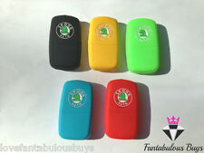 SILICONE KEY FOB COVER RUBBER CASE PROTECTOR Octavia Fabia vRS