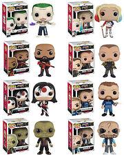 Suicide Squad 8 Figuren Set Harley Joker POP! Heroes #96-#103 Vinyl Figur Funko