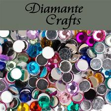 1000 x 5mm Mixed Colours Diamante Loose Flat Back Rhinestone Craft Embellishment