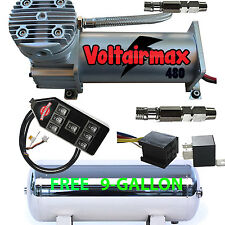 480C Air Compressor Ride Kit 200psi rated FREE 9 Gl Stainless Tank/7-Switch Cont