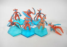 Pokemon Tomy Deoxys Figure Monster Collection Rare Set of 7 Clear Toy Lot