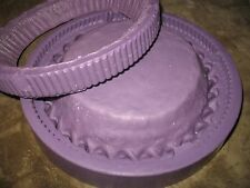 "SCOTTCREW 9"" FULL PIE SHELL CRUST SILICONE CANDLE SOAP TWO PIECE MOLD $125"