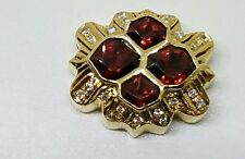 14K GOLD LARGE JOSHUA DIAMOND AND RUBY SLIDE BRACELET CHARM