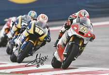 Alex De Angelis Hand Signed 2014 Moto2 Tasca Racing Suter 12x8 Photo 1.