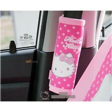 Hello Kitty Seat Belt Cover (2pcs) Car Accessory: Dot Pattern
