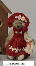 "Unipak Designs ~ 4""   Colleen   girl plush teddy bear w/ bear   stuffed animal"