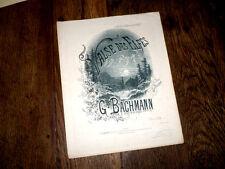 valse des elfes partition pour piano 1882 G. Bachmann