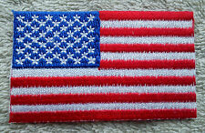 UNITED STATES OF AMERICA FLAG PATCH Embroidered Badge Iron Sew 4.5cm x 6cm USA