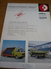 VW VOLKSWAGEN LT SIDE TIPPER BROCHURE jm