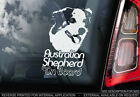 Australian Shepherd - Car Window Sticker - Dog Sign -V02
