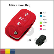 Silicone Cover Holder for AUDI Folding Remote Key Fob Case Shell 3 BTN CV7 RD