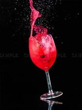 GLASS WINE HIGHSPEED SPLASH RED PHOTO ART PRINT POSTER PICTURE BMP1104A